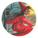 Vintage Witch and Cat Sticker sticker