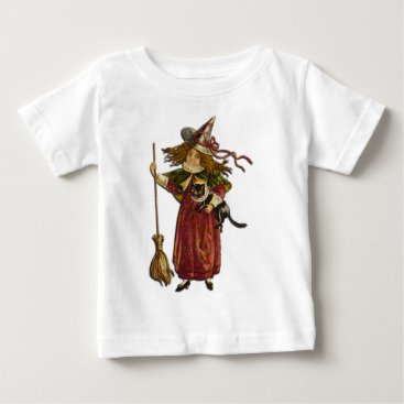Halloween Themed Vintage Witch Baby T-Shirt