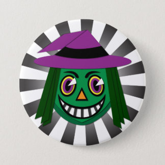 Vintage Witch Button