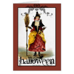 Vintage Witch Halloween Card