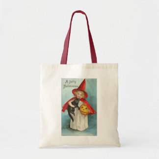 Vintage Witch Halloween Designs Tote Bag