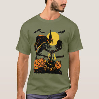 Vintage Witch Halloween T-Shirt