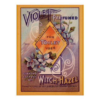 Vintage Witch -Hazel Advertisement Poster