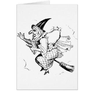 Vintage Witch illustration Card