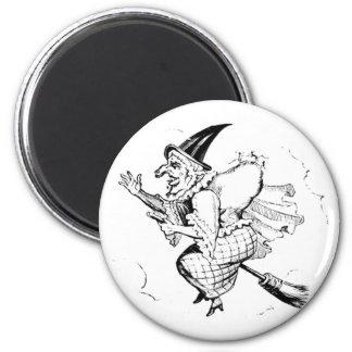Vintage Witch illustration Fridge Magnet