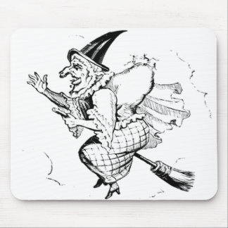 Vintage Witch illustration Mouse Pad