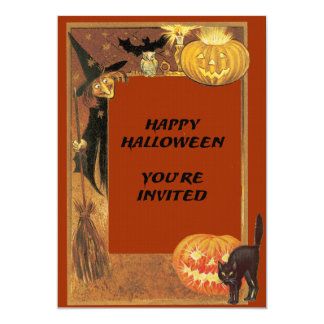 Vintage Witch Invitation