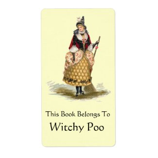 Vintage Witch label