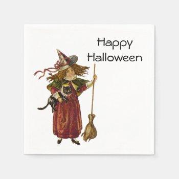 Vintage Witch Paper Napkin