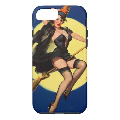 Vintage Witch Pinup Girl Phone Case