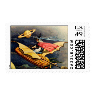 Vintage Witch Postage