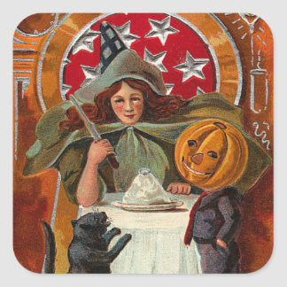 Vintage Witch Stickers - Trick or Treat