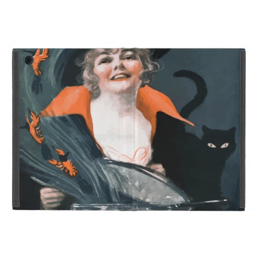 Vintage Witch Summoning Food For Her Cat iPad Mini Case