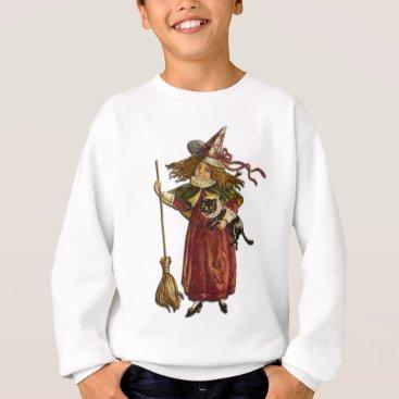 Halloween Themed Vintage Witch Sweatshirt