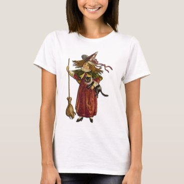 Halloween Themed Vintage Witch T-Shirt