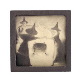 Vintage Witch Trinket Box Premium Trinket Box