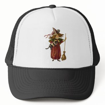 Halloween Themed Vintage Witch Trucker Hat