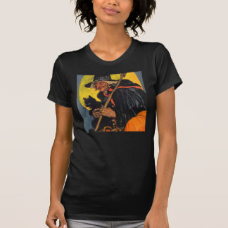Vintage Witch with black cat T-Shirt