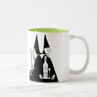 Vintage Witches Brew Alcohol Cauldron Halloween Mug