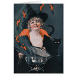 Vintage Witches Brew with Lobsters Card