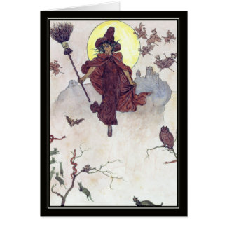 Vintage Witches by Kate Greenaway Card