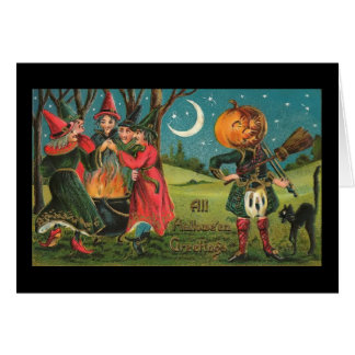 Vintage Witches Card