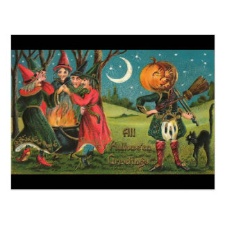 Vintage Witches Postcard
