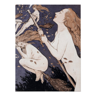 Vintage Witches - Walpurgis by Adolf Munzer Poster