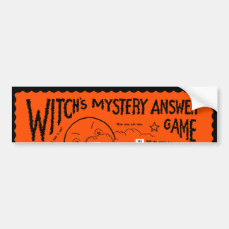 Vintage Witch's Mystery Answer Game Bumper Sticker
