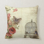 Vintage with Roses Bird Cage Pillow