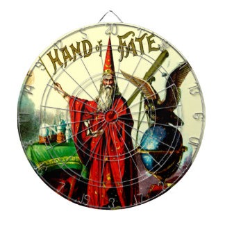 Vintage Wizard Merlin Magic Hand of Fate Game Dartboard