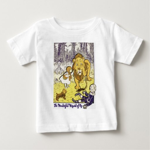 Vintage wizard of oz 1st edition print baby t shirt zazzle for Wizard t shirt printing