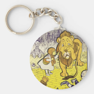 Vintage Wizard of Oz 1st Edition Print Keychain