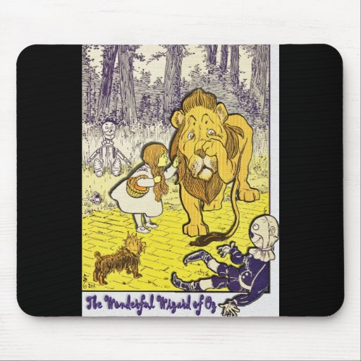 Vintage Wizard of Oz 1st Edition Print Mouse Pads