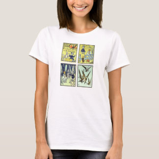Vintage Wizard of Oz, 4 Fairy Tale Scenes T-Shirt