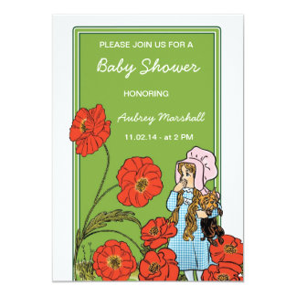 Vintage Wizard of Oz Baby Shower Card