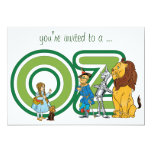 Vintage Wizard of Oz Baby Shower Party 5x7 Paper Invitation Card