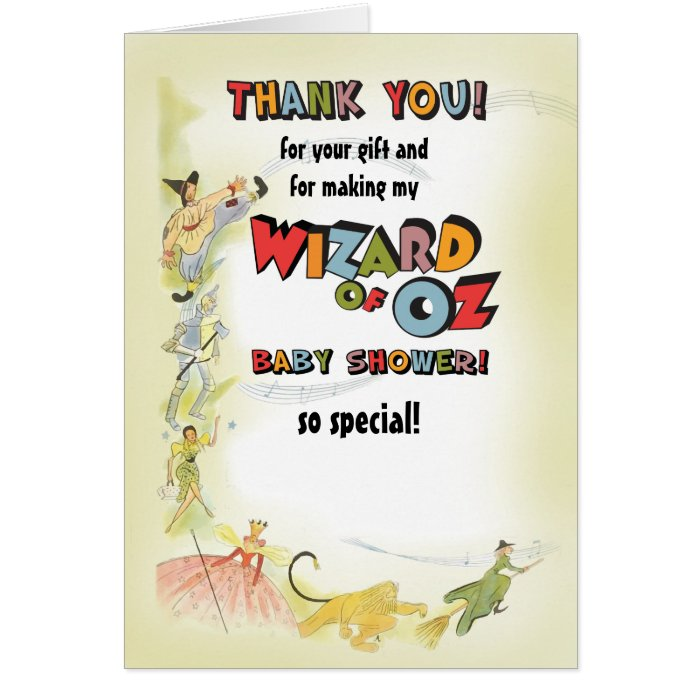 vintage wizard of oz baby shower thank you cards zazzle