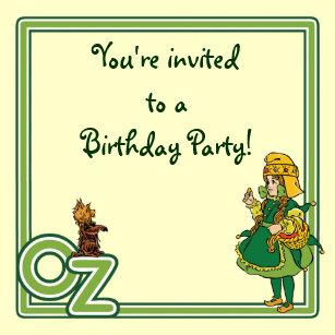 Vintage Wizard Of Oz Birthday Party Invitation
