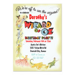 "Vintage Wizard of Oz Birthday Party Invitations 5"" X 7"" Invitation Card"