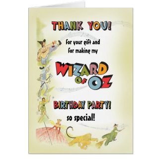 Vintage Wizard of Oz Birthday PartyThank You Cards