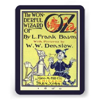 Vintage Wizard of Oz Book Cover Art Birthday Party Custom Invite