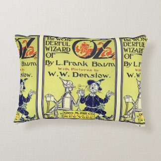 Vintage Wizard of Oz Book Cover Art, Title Page Accent Pillow