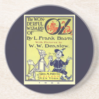 Vintage Wizard of Oz Book Cover Art, Title Page Drink Coaster