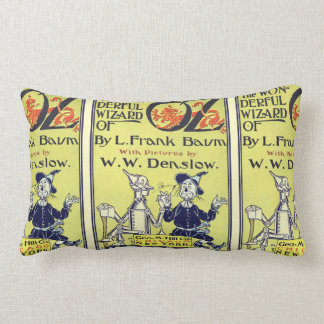 Vintage Wizard of Oz Book Cover Art, Title Page Lumbar Pillow