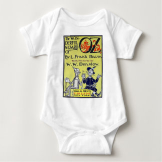 Vintage Wizard of Oz Book Cover Baby Bodysuit