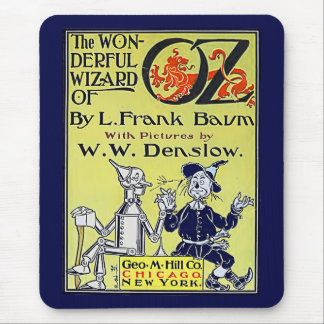 Vintage Wizard of Oz Book Cover Mouse Pad