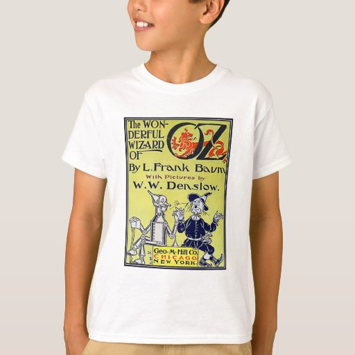 Vintage Book Cover Shirts : Vintage wizard of oz book cover t shirt zazzle