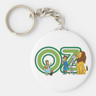 Vintage Wizard of Oz Characters and Letters Basic Round Button Keychain