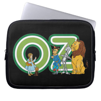 Vintage Wizard of Oz Characters and Letters Laptop Sleeve